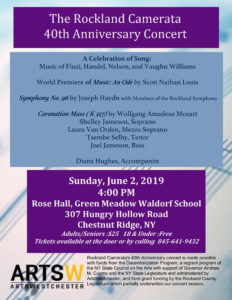 Rockland Camerata 40th Anniversary Concert